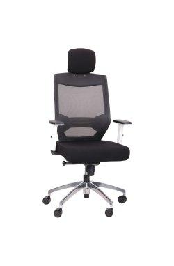 Кресло Admin White Alum Black/Black