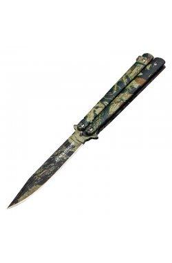 Нож бабочка Boker Magnum Balisong (длина: 227мм, лезвие: 102мм), камуфляж