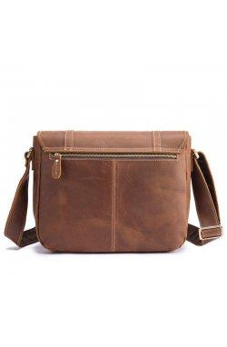 Кожаная сумка мессенджер из натуральной кожи bx9429 фирмы Bexhill Коричневый