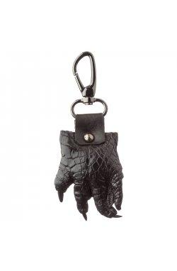 Брелок сувенир лапа крокодила CROCODILE LEATHER 18591 из натуральной кожи крокодила Черный, Черный