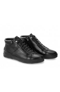 Ботинки мужские Carlo Delari 7194026-Б цвет черный, кожа
