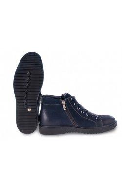 Ботинки мужские Carlo Delari 7194044-Б цвет тёмно-синий, кожа-нубук