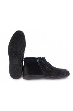 Ботинки мужские Carlo Delari 7194103-Б цвет черный, кожа, кожа-нубук