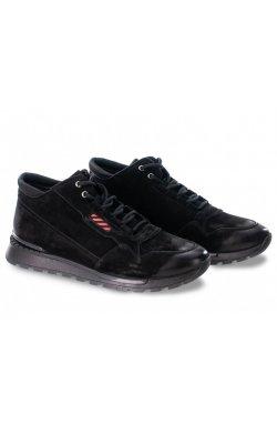 Ботинки мужские Clemento 7194308-Б цвет черный, кожа, кожа-нубук