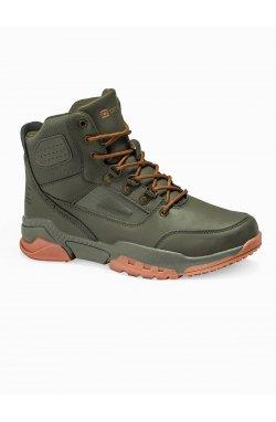 Men's winter shoes trappers T316 - зеленый