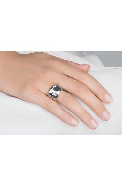 Широкое серебряное кольцо с бриллиантом остров любви из родированного серебра 925-й пробы с бриллиантом (151049 )