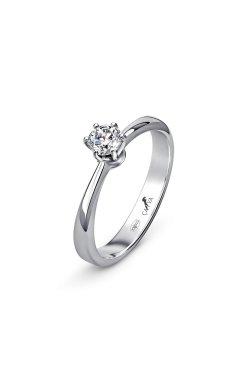 Серебряное кольцо miracle из родированного серебра 925-й пробы с куб. циркониями (1 155 )