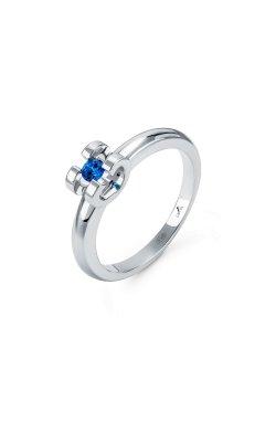 Серебряное кольцо с сапфиром brise из родированного серебра 925-й пробы (15 87 )
