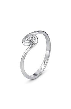 Серебряное кольцо nicole 13 из родированного серебра 925-й пробы с куб. циркониями (1 57 2)