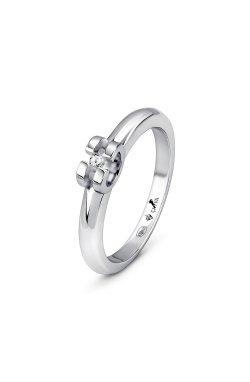 Серебряное кольцо с бриллиантом изящность из родированного серебра 925-й пробы с бриллиантом (15 56 )