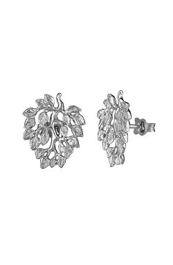 Серебряные серьги пусеты дерево любви cava.cool из родированного серебра 925-й пробы ( 13052 1)