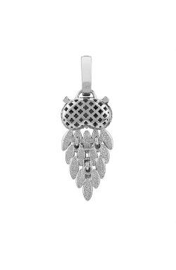 Серебряный кулон сова cava.cool из родированного серебра 925-й пробы с куб. циркониями (3 330 )
