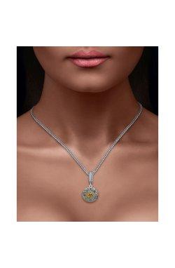 Серебряный шарм подвеска знак зодиака лев из родированного серебра 925-й пробы (311248 )