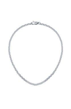 Серебряная цепь 37-40-43 из родированного серебра 925-й пробы (6105752 4)