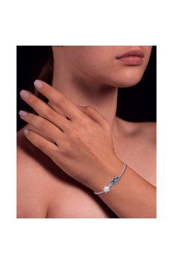 Серебряный браслет мальчик из родированного серебра 925-й пробы с куб. циркониями (5813952 1)
