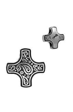 Серебрянный переходник крест из родированного серебра 925-й пробы (311 3 )