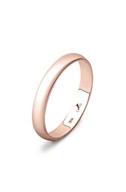 Золотое обручальное классическое кольцо из красного золота 585-й пробы (110 23)