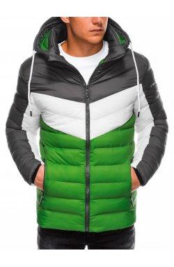 Куртка мужская демисезонная K418 - зеленый