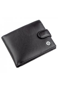 Кожаный кошелек для мужчин Boston 18820 Черный, Черный