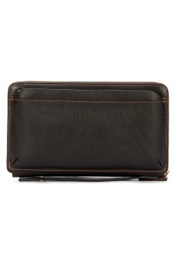 Мужской клатч-барсетка с ремешком на руку Vintage 14655 Коричневый, Коричневый