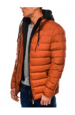 Куртка мужская демисезонная стеганая K384 - оранжевый