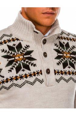 Sweter męski E154 - beżowy
