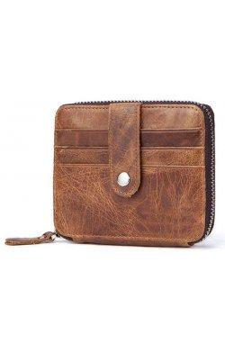 Картхолдер кожаный Vintage 14936 Светло-Коричневый, Коричневый