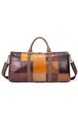 Дорожня сумка Crazy 14779 Vintage Різнокольорова, Коричневий