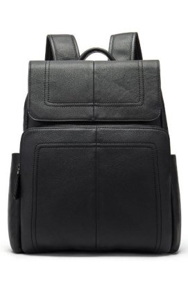 Рюкзак кожаный Vintage 14891 Черный, Черный