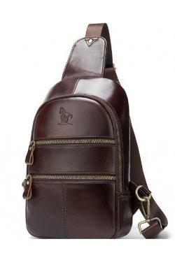 Сумка через плечо мужская Vintage 14853 Коричневая, Коричневый