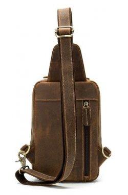 Сумка винтажная через плечо мужская Vintage 14855 Коричневая, Коричневый