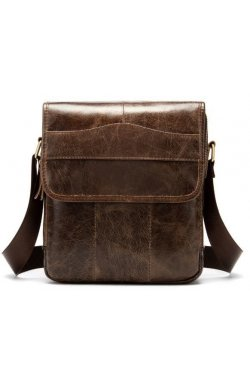 Вертикальная сумка мужская Vintage 14863 Коричневая, Коричневый