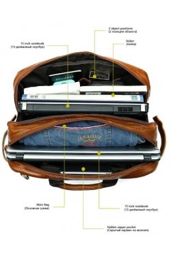 Сумка-трансформер 3 в 1 из натуральной кожи Vintage 14869 Коричневая, Коричневый