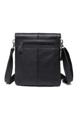 Кожаный мужской мессенджер Vintage 14884 Черный, Черный
