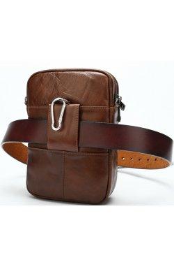 Сумка через плечо мужская Vintage 14898 Коричневая, Коричневый