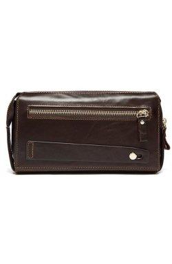 Кожаный клатч Vintage 14907 Коричневый, Коричневый