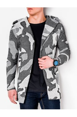 Men's hooded cardigan E160 - Серый
