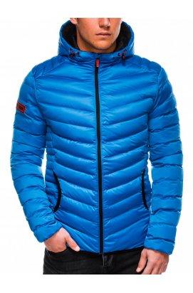 Men's Autumn quilted jacket C368 - голубой