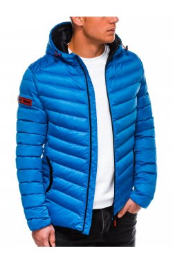 Men's Autumn quilted jacket C368 - голубой