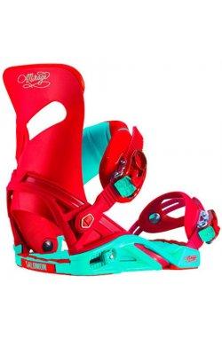 Крепление сноубордическое Salomon - Mirage Red Turquoise, р.M (SLM MIRAGE.37578356)