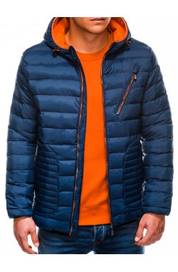 Куртка чоловіча демісезонна стьобана C377 - синя
