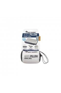 Подушка надувная Sea To Summit - Aeros Down Pillow Grey, 12 х 34 х 24 см (STS APILDOWNRGY)
