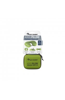 Подушка надувная Sea To Summit - Aeros Premium Pillow Traveller Lime, 11 х 39 х 29 см (STS APILPREMYHALI)