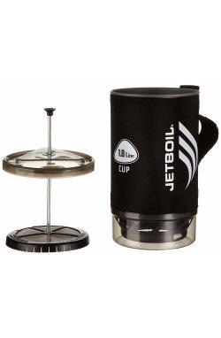 Чашка с прессом для кофе и чая Jetboil - Spare Cup W G Press Black, 1.8 л (JB CCP180GP)