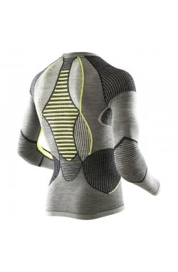 Термофутболка мужская X-Bionic - Apani Man Shirt LS Black/Gray/Yellow, р.XXL (XB I100465.B064-XXL)