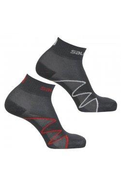 Носки Salomon - XA 2-Pack Black/Grey/Black/Red, р.L (SLM XA2PACK.402788-42/44)