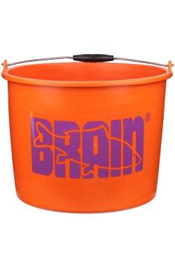 Ведро Brain для прикормки (пластик) 20 л оранжевое