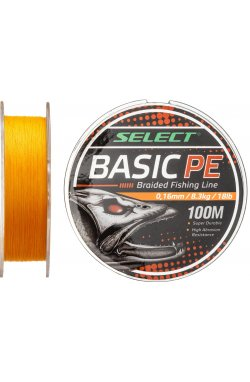 Шнур Select Basic PE 100m (оранж.) 0.16mm 18LB/8.3kg