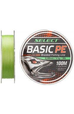 Шнур Select Basic PE 100m (салат.) 0.08mm 8LB/4kg
