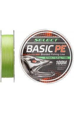 Шнур Select Basic PE 100m (салат.) 0.10mm 10LB/4.8kg